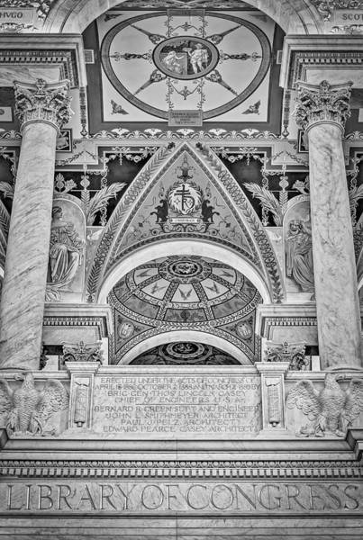Photograph - Erected Under The Act Of Congress Bw by Susan Candelario