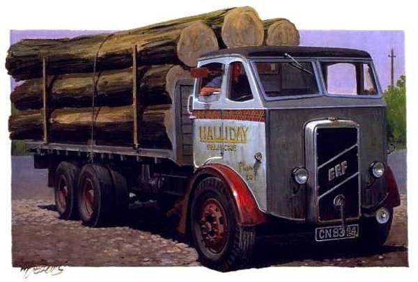 Transport Painting - Erf Ct 561 Six-wheeler. by Mike Jeffries
