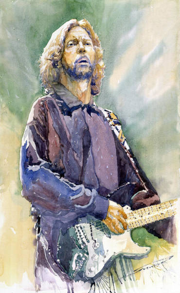 Wall Art - Painting - Eric Clapton 05 by Yuriy Shevchuk