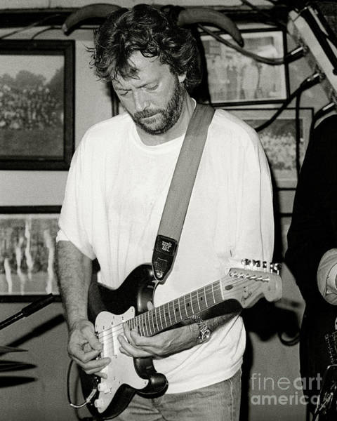 Strat Photograph - Eric Clapton 1988 by Chuck Spang