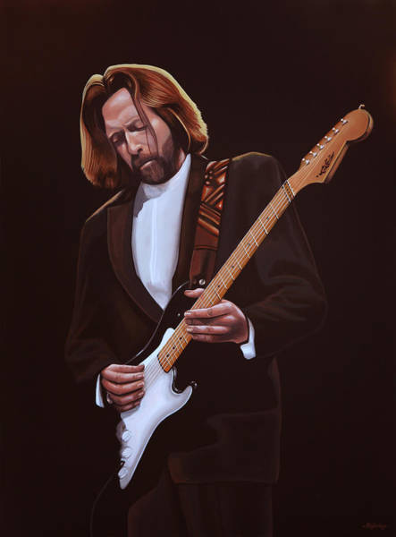 Wall Art - Painting - Eric Clapton Painting by Paul Meijering