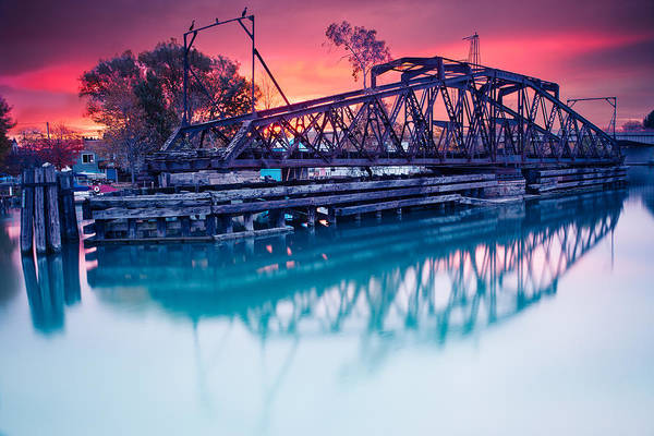 Wny Wall Art - Photograph - Erie Canal Swing Bridge by Chris Bordeleau