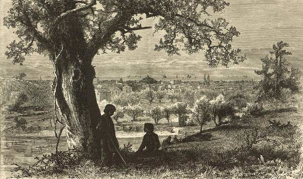 Federal Triangle Wall Art - Painting - Erie From Federal Hill 1876 Engraving by Antique Engravings