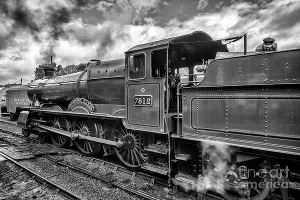 Railway Station Photograph - Erlestoke Manor V2 by Adrian Evans