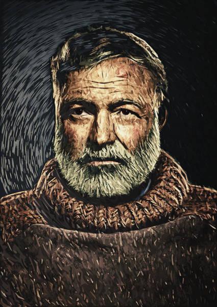Journalist Digital Art - Ernest Hemingway by Zapista Zapista