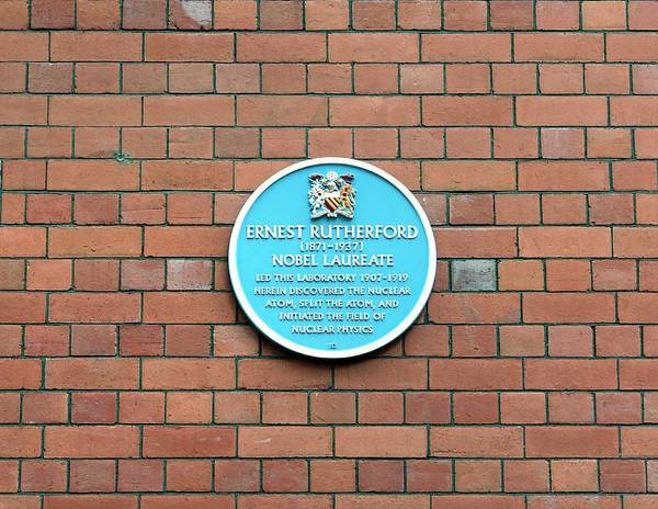 Rutherford Photograph - Ernest Rutherford Plaque by Martin Bond/science Photo Library