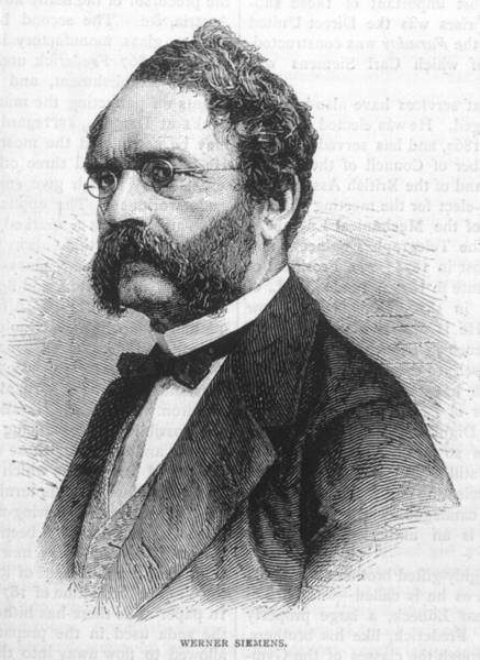 Wall Art - Drawing - Ernst Werner Von Siemens  German by Mary Evans Picture Library