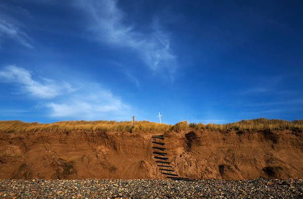 County Waterford Photograph - Eroded Low Cliffs, Tramore, County by Panoramic Images