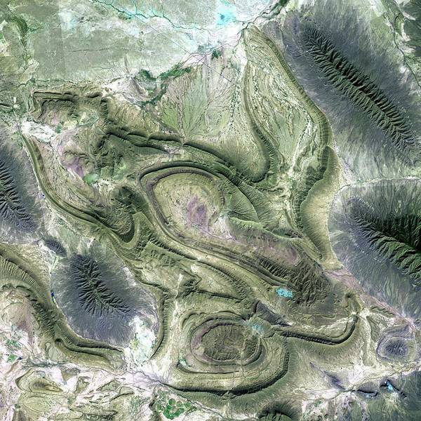 Water Erosion Photograph - Eroded Mountains by Nasa/science Photo Library