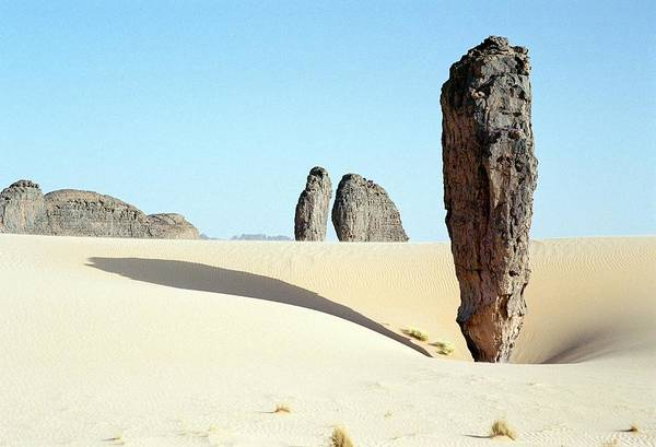 Wall Art - Photograph - Eroded Sandstone Pillar by Gjlp/science Photo Library