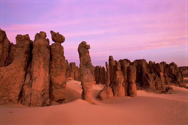 Sahara Photograph - Eroded Sandstone Pinnacles by Sinclair Stammers/science Photo Library