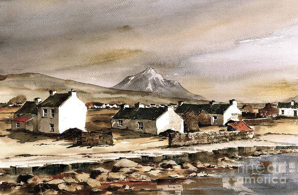 Painting - Errigal From Gola Island Donegal by Val Byrne
