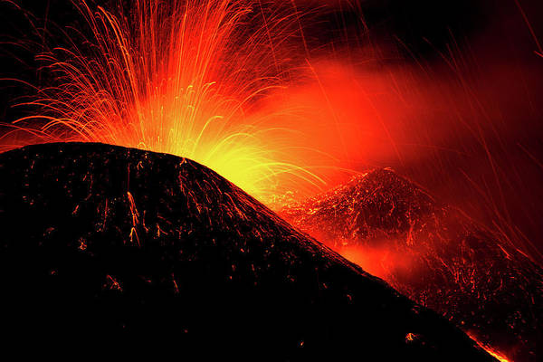 Wall Art - Photograph - Eruption By Night by Simone Genovese