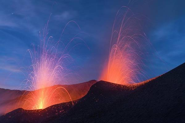 Wall Art - Photograph - Eruption Of Pico Do Fogo Volcano by Martin Rietze/science Photo Library