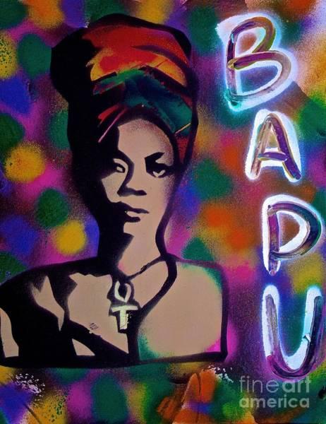 Jazz-funk Painting - Erykah Badu 2014 by Tony B Conscious