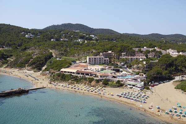 Baleares Photograph - Es Figueral Beach And The Invisa Hotels by Xavier Durán