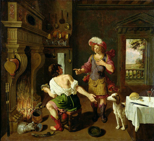 Twins Painting - Esau Selling His Birthright To Jacob by Michel Corneille