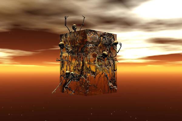 Scifi Digital Art - Escape Attempt by Claude McCoy