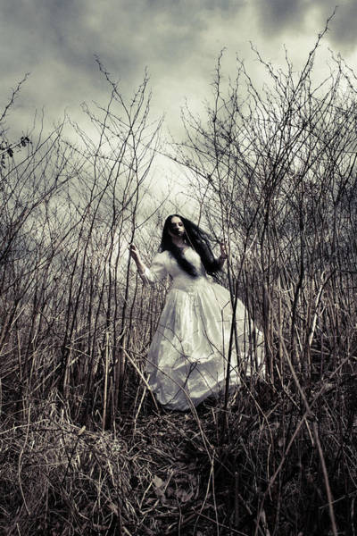 Gloomy Wall Art - Photograph - Escaping Bride by Cambion Art