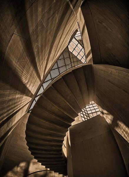 Stairwell Wall Art - Photograph - Escherism 1 by Ute Scherhag
