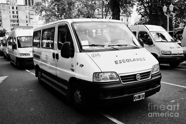 Wall Art - Photograph - escolares school minibus Buenos Aires Argentina by Joe Fox