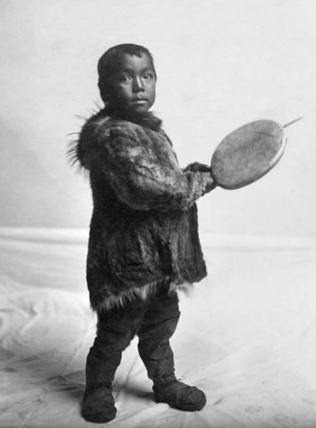 Photograph - Eskimo Child, C1905 by Granger