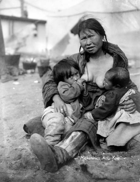 Photograph - Eskimo Mother And Babies by Granger