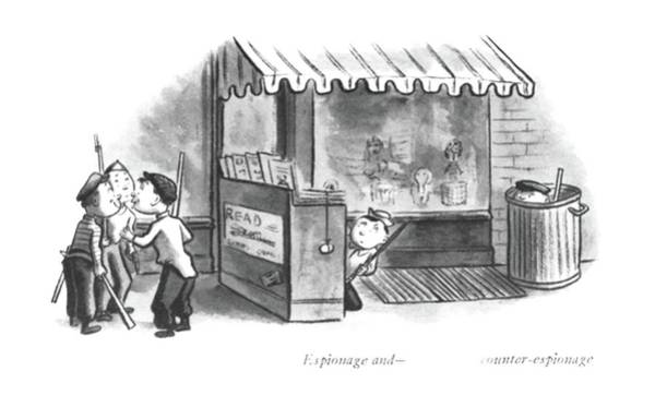 Imagination Drawing - Espionage And -  Counter-espionage by William Steig