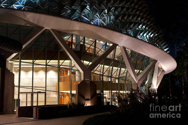 Photograph - Esplanade Theatres At Night 03 by Rick Piper Photography