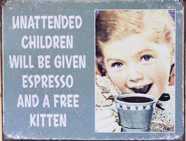 Photograph - Espresso And Kitten Sign by Steven Ralser