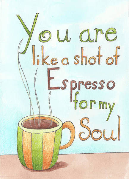 Wall Art - Painting - Espresso Art by Christy Beckwith