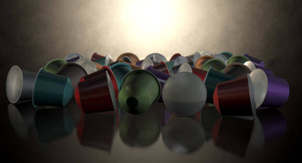 Hit Digital Art - Espresso Coffee Capsules by Allan Swart
