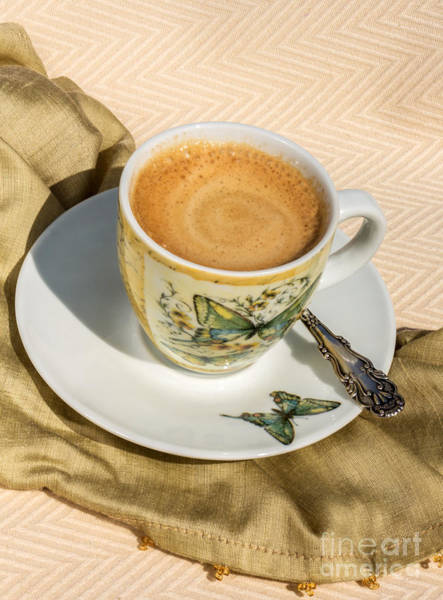 Wall Art - Photograph - Espresso In Butterfly Cup by Iris Richardson