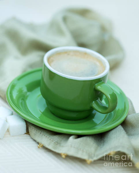 Wall Art - Photograph - Espresso In Green Cup by Iris Richardson