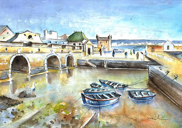 Painting - Essaouira Harbour 02 by Miki De Goodaboom