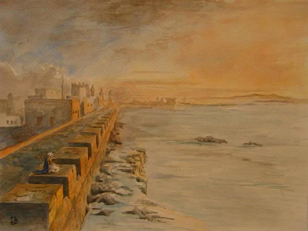Ruin Painting - Essaouira Morocco by Juan  Bosco