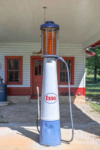 Photograph - Esso Gas Pump by Dale Powell