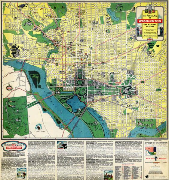 Washington D.c Painting - Esso Guide To Washington D.c by MotionAge Designs