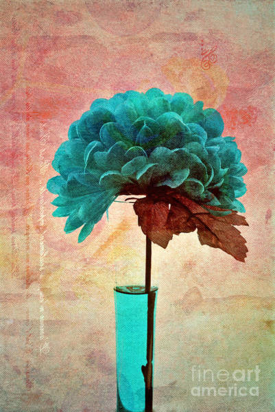 Blue Vase Photograph - Estillo - S04b2t22 by Variance Collections