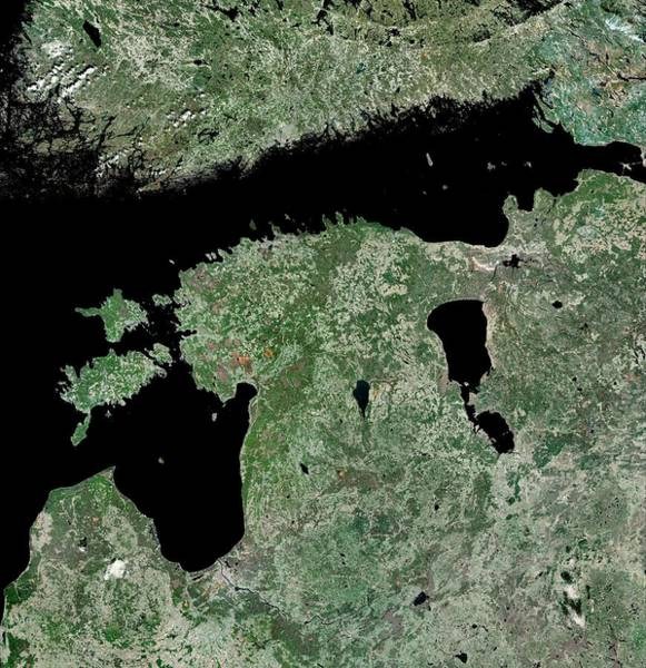 Lakes Region Photograph - Estonia by Mda Information Systems/science Photo Library