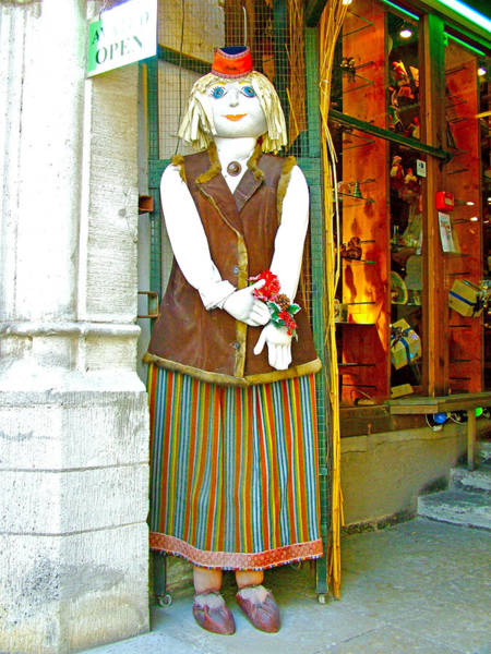 Greeters Photograph - Estonian Greeter In Old Town Tallinn-estonia by Ruth Hager
