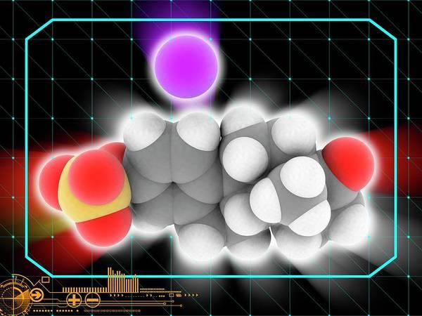 Wall Art - Photograph - Estrone Sodium Sulfate Drug Molecule by Laguna Design/science Photo Library