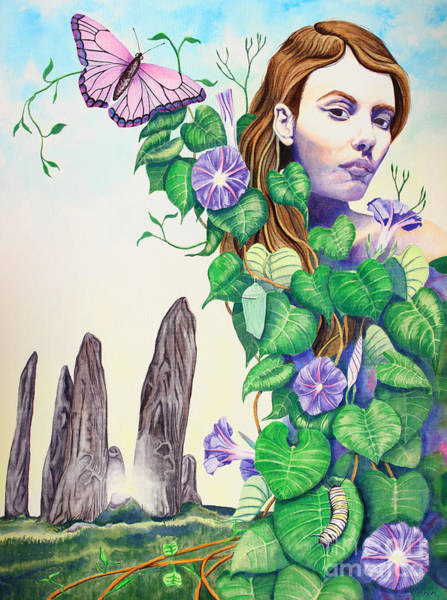 Evolution Wall Art - Painting - Etain by Do'an Prajna - Antony Galbraith