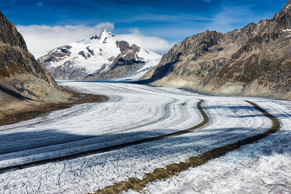 Photograph - Eternal Ice - Aletsch Glacier Swiss Alps Switzerland by Matthias Hauser