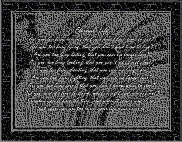 What Is Life Digital Art - Eternal Life by L Brown
