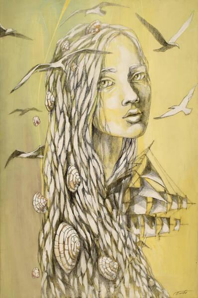 Seagulls Mixed Media - Eternal Longing by Egle Urbonaviciute