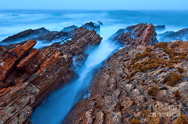 Montana Photograph - Eternal Tides - The Strange Jagged Rocks And Cliffs Of Montana De Oro State Park In California by Jamie Pham