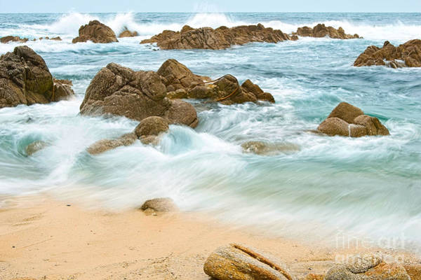 Monterey Bay Photograph - Eternal Waves At Asilomar Beach In Monterey Bay. by Jamie Pham