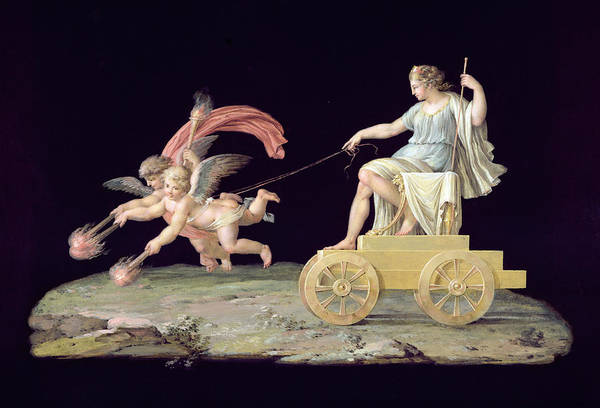 Chariot Wall Art - Painting - Eternity by Michelangelo Maestri