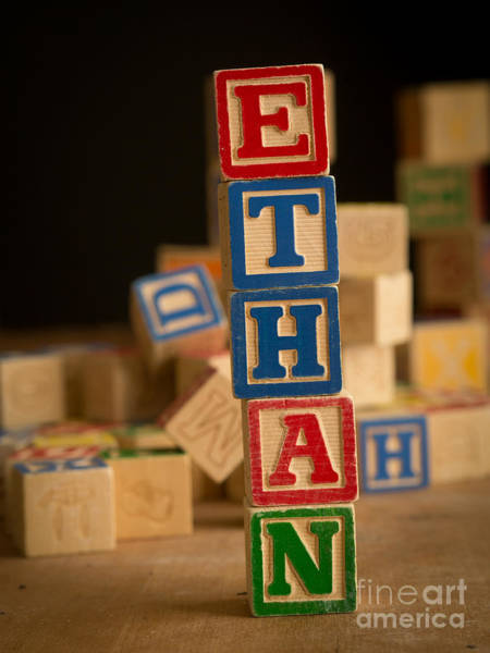 Baby Name Wall Art - Photograph - Ethan - Alphabet Blocks by Edward Fielding